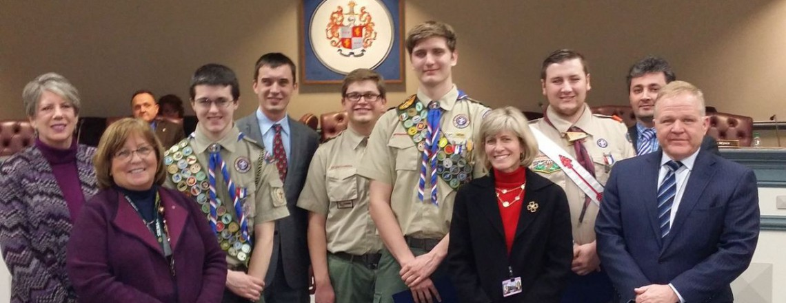Troop 236 Scout Joe Harmon (right) Honored With Earning The Rank of Eagle Scout