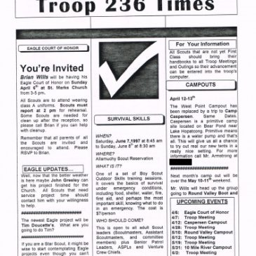 Troop 236 Times Apr 1995