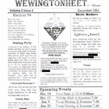 Wewingtonheet Vol. 2 Issue 2 Dec 1994