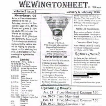 Wewingtonheet Vol. 2 Issue 3 Jan & Feb 1995