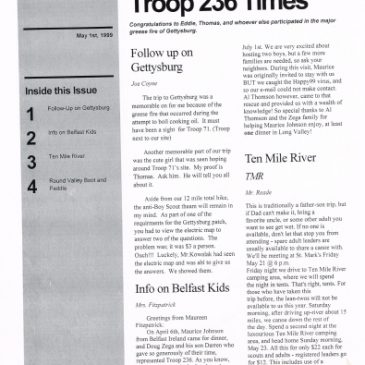 Troop 236 Times May 1999
