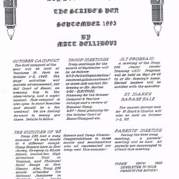 The Scribe's Pen Sept 1993