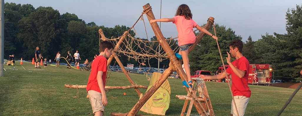 Troop 236's Monkey Bridge